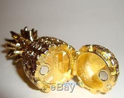Estee Lauder Golden Pineapple Solid Perfume Compact 2015 Empty Ub