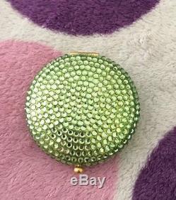 Estee Lauder Green Crystal Powder Compact. Very Rare Look  HTF