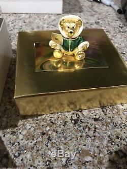 Estee Lauder Harrods 2001 Christmas Teddy Bear Solid Perfume Compact New Unused