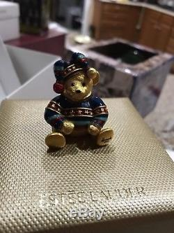 Estee Lauder Harrods 2004 Christmas Teddy Bear Solid Perfume Compact 300 Made