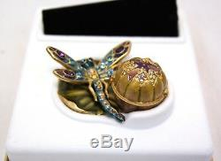 Estee Lauder Intuition Glistening Dragonfly 2002 Perfume Compact Collectible