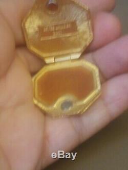 Estee Lauder Jay Strongwater 14k gold hexagon & flower Powder Compacts