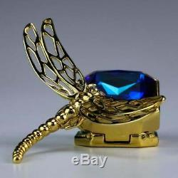 Estee Lauder Jay Strongwater Dragonfly & Blue Crystal solid perfume