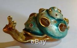 Estee Lauder Jay Strongwater Shimmering Snail Solid Perfume Compact Jewel 2010