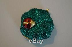 Estee Lauder Jeweled Ladybug on a Leaf Powder Compact