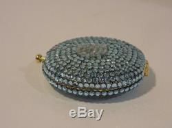 Estee Lauder Kathrine Bauman Light Blue Rhinestone Collector Compact