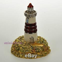 Estee Lauder LIGHTHOUSE Solid Perfume Compact 2004 Jay Strongwater New in Box