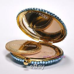Estee Lauder LIGHT BLUE COMPACT Lucidity Powder 0.1 oz 2.8 g Both Sides Crystals