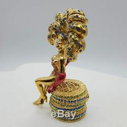 Estee Lauder Las Vegas Showgirl Solid Perfume Compact Beautiful Fragrance 2-3/4
