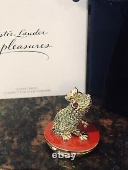 Estee Lauder Loving Frog Pleasures Perfume Compact Full