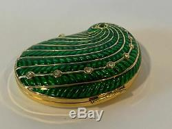 Estee Lauder Lucidity Peacock Feather Crystal Pressed Powder Compact