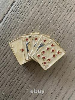 Estee Lauder Lucky Hand 2002 Solid Perfume Compact Gambler Poker Beautiful