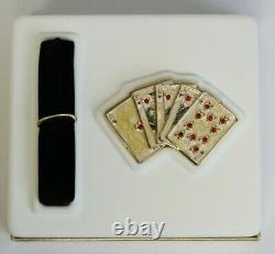 Estee Lauder Lucky Hand 2002 Solid Perfume Compact Gambler Poker MIBB Beautiful