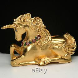 Estee Lauder MAGICAL UNICORN Solid Perfume Compact 2001 Collection