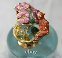 Estee Lauder Magical Pitcher Solid Perfume by Jay Strongwater Enamel box