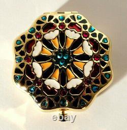 Estee Lauder Moroccan Mosaic Tile Enamel Powder Compact Ltd. Edition NOS RARE
