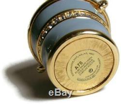 Estee Lauder Palm Beach Treasure Solid Perfume Compact Enamel Sand Pail SeaShell