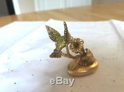 Estee Lauder Perfume Compact 2006 Fluttering Hummingbird Pleasures Full Gorgeous