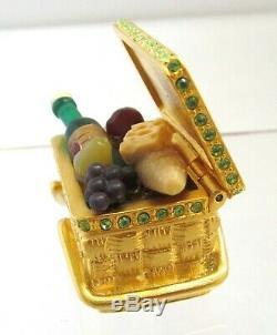 Estee Lauder Picnic Basket 2002 Solid Perfume Compact Beautiful