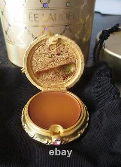 Estee Lauder Pink Ballet Slippers Solid Perfume Compact 1999 FULL IN BOX