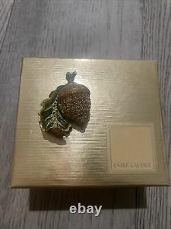 Estee Lauder Pleasures 2002 Glistening Acorn Perfume Compact by Jay Strongwater