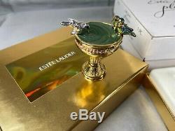 Estee Lauder Pleasures BIRDBATH Solid Perfume Compact 2001 ORIGINAL BOX