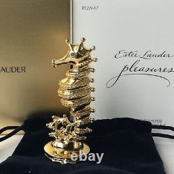 Estee Lauder Pleasures One Of A Kind Seahorse Compact For Solid Perfume NIB