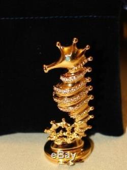 Estee Lauder Pleasures Seahorse Compact Solid Perfume Brand New Boxed