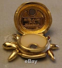 Estee Lauder Pleasures Turtle Endurance Compact For Solid Perfume Brand New