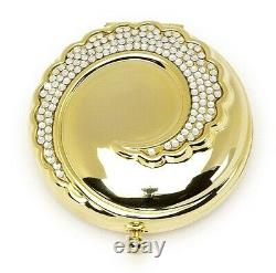 Estee Lauder Powder Compact 1998 Crystal Wave Mint Condition