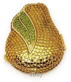 Estee Lauder Powder Compact 1998 Golden Pear MIBB or MIB