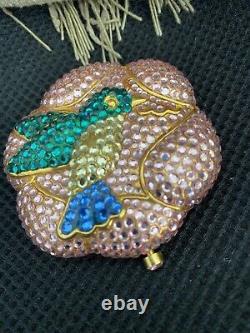 Estee Lauder Powder Compact 2001 All the Buzz Hummingbird Crystal jeweled