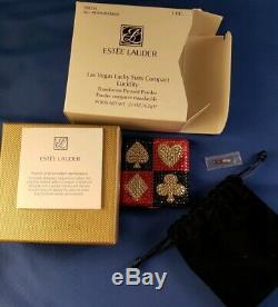 Estee Lauder Powder Compact 2005 Las Vegas Lucky Suits MIBB Collectors Alert