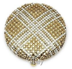 Estee Lauder Powder Compact 2006 Golden Plaid Mint Condition