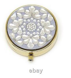 Estee Lauder Powder Compact 2006 Jewel Snow Flower Mint Condition