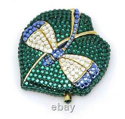 Estee Lauder Powder Compact All the Buzz Dragonfly in Original Box or Boxes