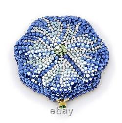 Estee Lauder Powder Compact Bermuda Blue Blossom New in Both Boxes