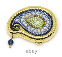 Estee Lauder Powder Compact Blue India Paisley New in Both Boxes