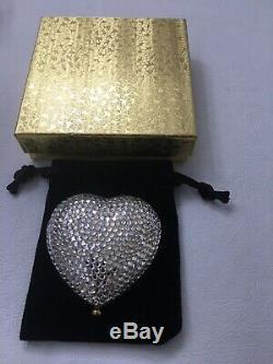 Estee Lauder Powder Compact Crystal Heart Beautiful