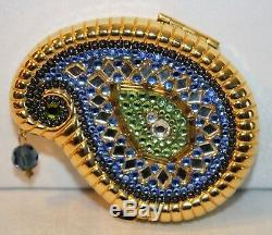 Estee Lauder Rare Limited Edition 2003 Blue India Paisley Collectors Compact #44