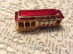 Estee Lauder San Francisco Trolley Solid Perfume COMPACT, Pleasures MIB