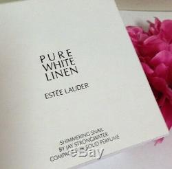 Estee Lauder Shimmering Snail Pure White Linen Solid Perfume Compact LE NIB