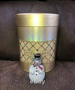 Estee Lauder Snowman Solid Perfume Compact, Mint RARE