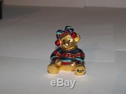 Estee Lauder Solid Perfume Compact 2004 Harrod's Teddy Bear New Original Xmas