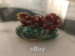 Estee Lauder Solid Perfume Compact Asian Dragon 2005 WOW