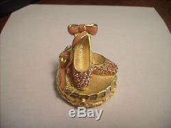 Estee Lauder Solid Perfume Compact Ballet Slippers Original Box