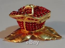 Estee Lauder Solid Perfume Compact Beautiful Sparkling Red Rose 1998