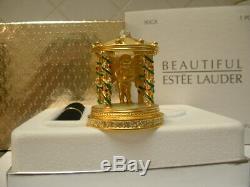 Estee Lauder Solid Perfume Compact Cupid's Garden Both Original Boxes