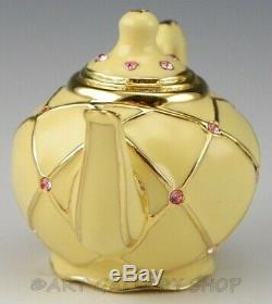 Estee Lauder Solid Perfume Compact Dazzling Gold TEAPOT Unused No Box