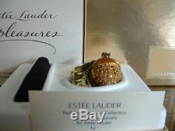 Estee Lauder Solid Perfume Compact Glistening Acorn MIB Strongwater Design